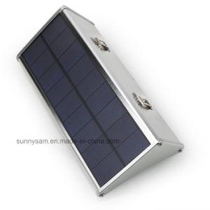 24/48/60のLEDの太陽レーダーの動きセンサーライト屋外の庭の壁ランプ4のモードを防水しなさい