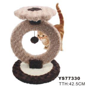 Árbol moderno del gato, juguete divertido del gato con la bola (YS77330)