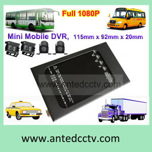 Gesetzte 4 Channel 3G Mobile DVR HD 1080P Car DVR mit WiFi u. GPS Tracking at-Hs004
