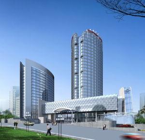 Edificio de estructura de acero de gran altura (HX12070517, ha exportado 200, 000 toneladas)