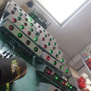 Главы четырех красный и зеленый диско лазера