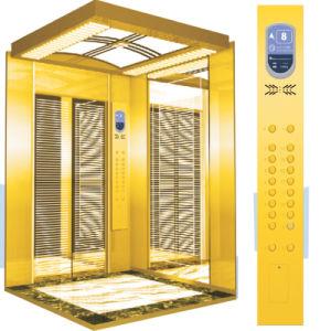Беззубчатый Лифт Пассажира с Высокопоставленный Украшением (YD-O1 F)