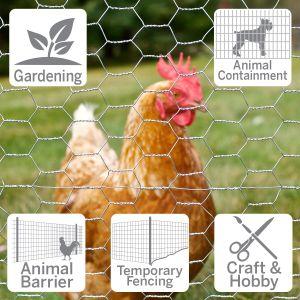 Fil du poulet pour la volaille de filets à mailles/ filet métallique à tête hexagonale