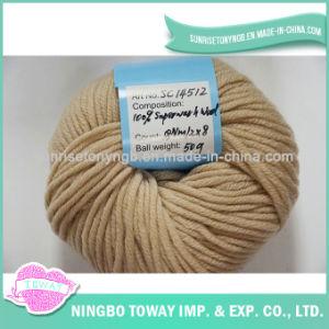 Esfera de fios de lã acrílica mão grossas de malhas de fios de fantasia
