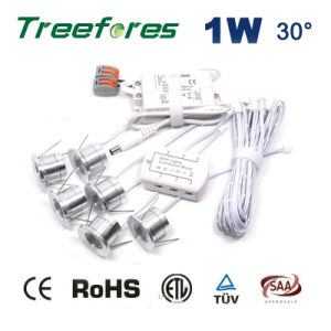 LED-Lampe 1W 12V Schrank-Punkt-Beleuchtung Gleichstrom-LED