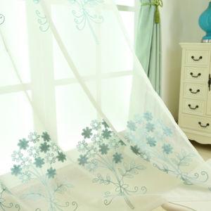 Bordados estilo moderna y limpia la ventana de Blackout cortina (09F0042)