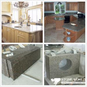 Meuble-lavabo en marbre/granit haut/d\'un comptoir de cuisine, salle ...