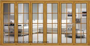 Foshan Fábrica de Vidrio puerta plegable de aluminio para la partición de oficina