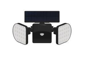360 gire en el exterior del sensor de movimiento de iluminación LED Lámpara de pared de luz solar para jardín, porche Camino Camino