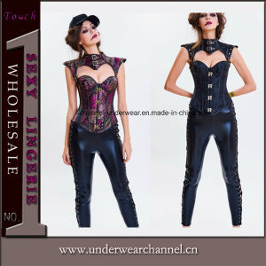 2018 Dropshipping Mujer Plus Size Brocade Steampunk Lady corsés (TWK1716)