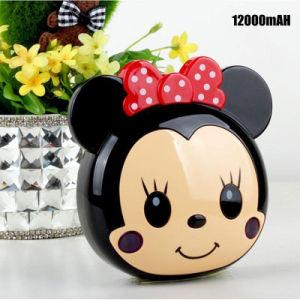 Comercio al por mayor lindo Mickey Mouse batería externa portátil con RoHS