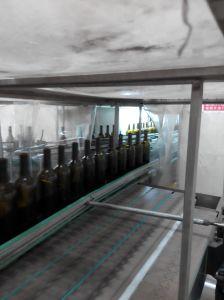 Ámbar de alta calidad de vidrio botella de vino de Borgoña con 750 ml