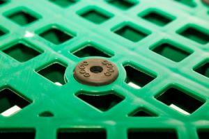 4 entradas de paletes de plástico durável para armazenamento de armazém