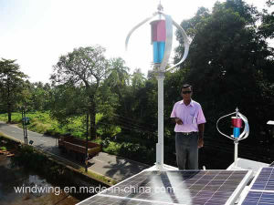 2KW off-grid vertical do sistema gerador de turbinas eólicas para áreas remotas