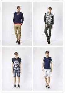 Maglietta famosa del cotone di stile di svago di marca di alta qualità per i vestiti degli uomini dell'uomo