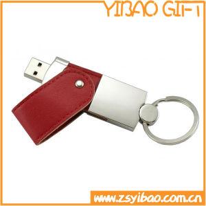 Chaîne de clés en métal/trousseau avec un lecteur flash USB pour cadeau promotionnel