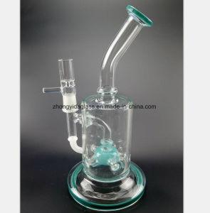 Blaues Filter-Glas-Wasser-Rohr, das Tabak-Schlauch aufbereitet