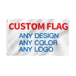 150*90см 100%полиэстер пользовательский дизайн печати баннер с логотипом флаг