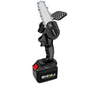 Meikela motosierra eléctrica recargable Mini motosierra motosierra con la chapa deflectora