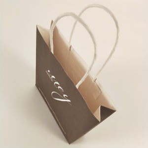 Белый крафт-магазинов бумажный мешок с Косметического слоя