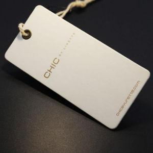 Las mujeres blancas de papel de la especialidad personalizado Hang Tags