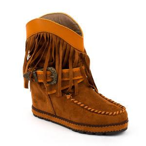 Popular para la Mujer Botas de gamuza vaca de la moda femenina botas planas