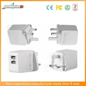 USB BRITANNICO all'ingrosso Wall Charger 2A Travel Charger di 2016 Plug Dual per il PC di iPhone/Smartphone/Tablet