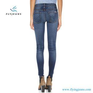 Aumento blu delle ragazze di vendita diretta della fabbrica il più nuovo (donne) alto Eccellente-Allunga i jeans scarni del denim