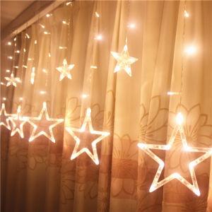 Cortina de luz LED Five-Pointed estrellas