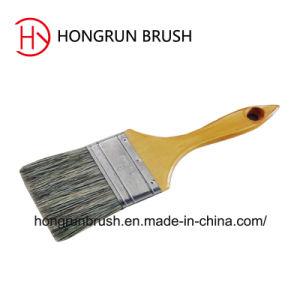 Hölzerne Handgriff-Farben-Borste-Farben-Bürste Hy0604