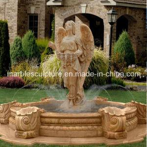 Senhora Angel Estátua Stand Flouring Chafariz de escultura de pedra (SY-F052)