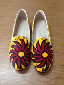 Los nuevos tejidos impresos africanos moda zapatos planos