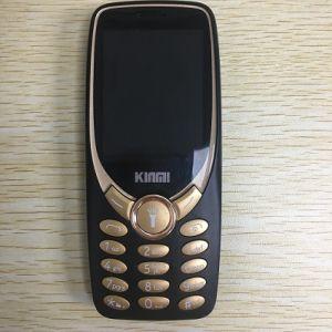 de Telefoon van de Eigenschap 3330 2.4inch met Gebogen GSM van de Telefoon van de Staaf van het Glas 2g Mobiele 4 Banden