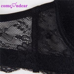 En Stock de alta calidad negro de encaje cómodo Camiseta Bra