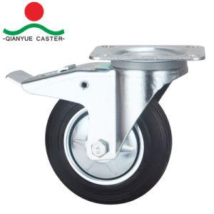 회전대 유럽 유형 산업 8개의  고무 피마자 바퀴