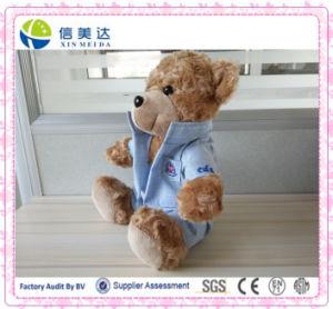 L'orso su ordinazione dell'orsacchiotto dell'animale farcito scherza i giocattoli molli della peluche dei bambini
