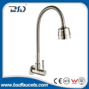 Níquel sin plomo del grifo del golpecito de filtro del agua potable del acero inoxidable aplicado con brocha