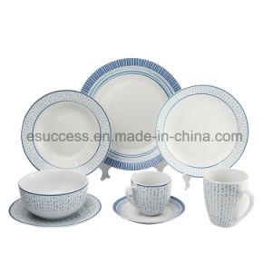 Adesivo populares de porcelana branca Normal Dinnerware Grés Louça de fábrica na China