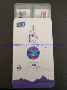 Plastic die Vulpen met Vervangbare Bonen en Patroon in de Plastic Doos van de Gift wordt geplaatst