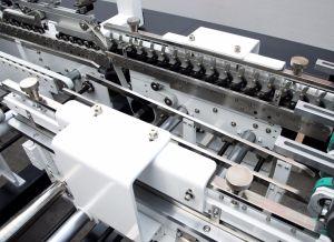 Dispositivo di piegatura impaccante di carta d'angolo automatico Gluer/incollatura piegante della scatola da pasticceria dell'alimento del regalo quattro sei facendo macchina (GK-1100GS)