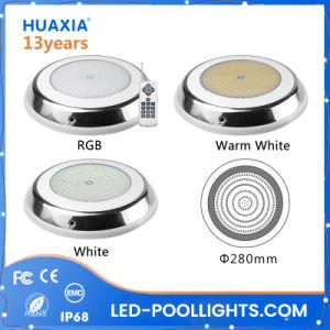 Huaxia PI68 12V RGB LED de isolados de resina Piscina debaixo de luz com marcação RoHS FCC