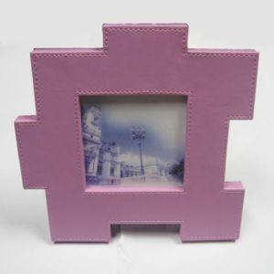 El marco de fotos de cuero -03