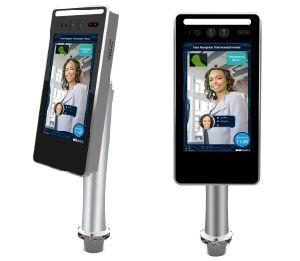 Panneau de contrôle d'accès de l'écran Terminal de Pointage de reconnaissance faciale avec détecteur du capteur de température, contrôle de température sans contact Scanner