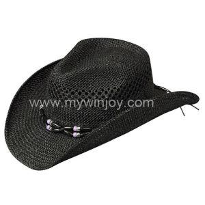 Sombrero rafia negra