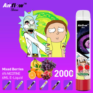 2021 Vape portátil canetas e cigarro 2000puffs Puff Plus 6ml Vape descartáveis