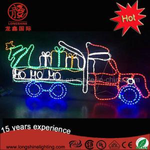 Puede ser montado en la pared LED Luz Motif coche regalo de Navidad en Navidad