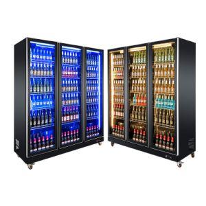 Exhibiciones comerciales nevera nevera congelador horizontal de enfriadores Equipos de Refrigeración Showcase