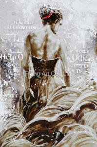 Retrato da base de alumínio pintura a óleo de reprodução