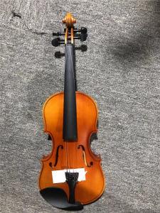 Instrumentos musicales de madera contrachapada de violín con el arte llama caja gratis