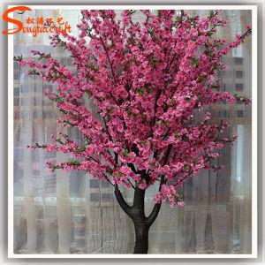 Flor de Cerejeira Árvore de flores artificiais de flores de plástico para decoração de casamento